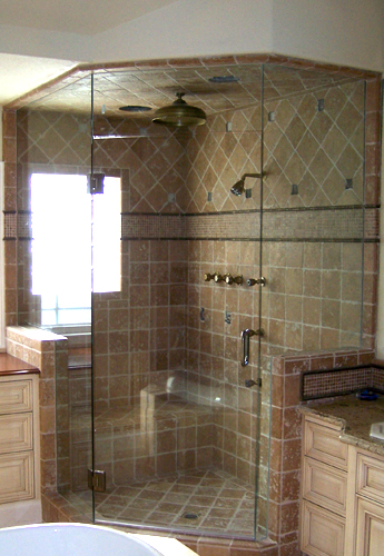 Shower doors michael 39 s glass company for Bathroom enclosure designs
